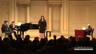 Carnegie Hall Vocal Master Class: Strauss