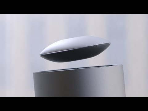 This levitating speaker plays your music in mid-air