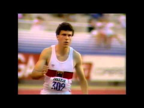 2994 European Track & Field 1990 Split Long Jump Men Dietmar Haaf