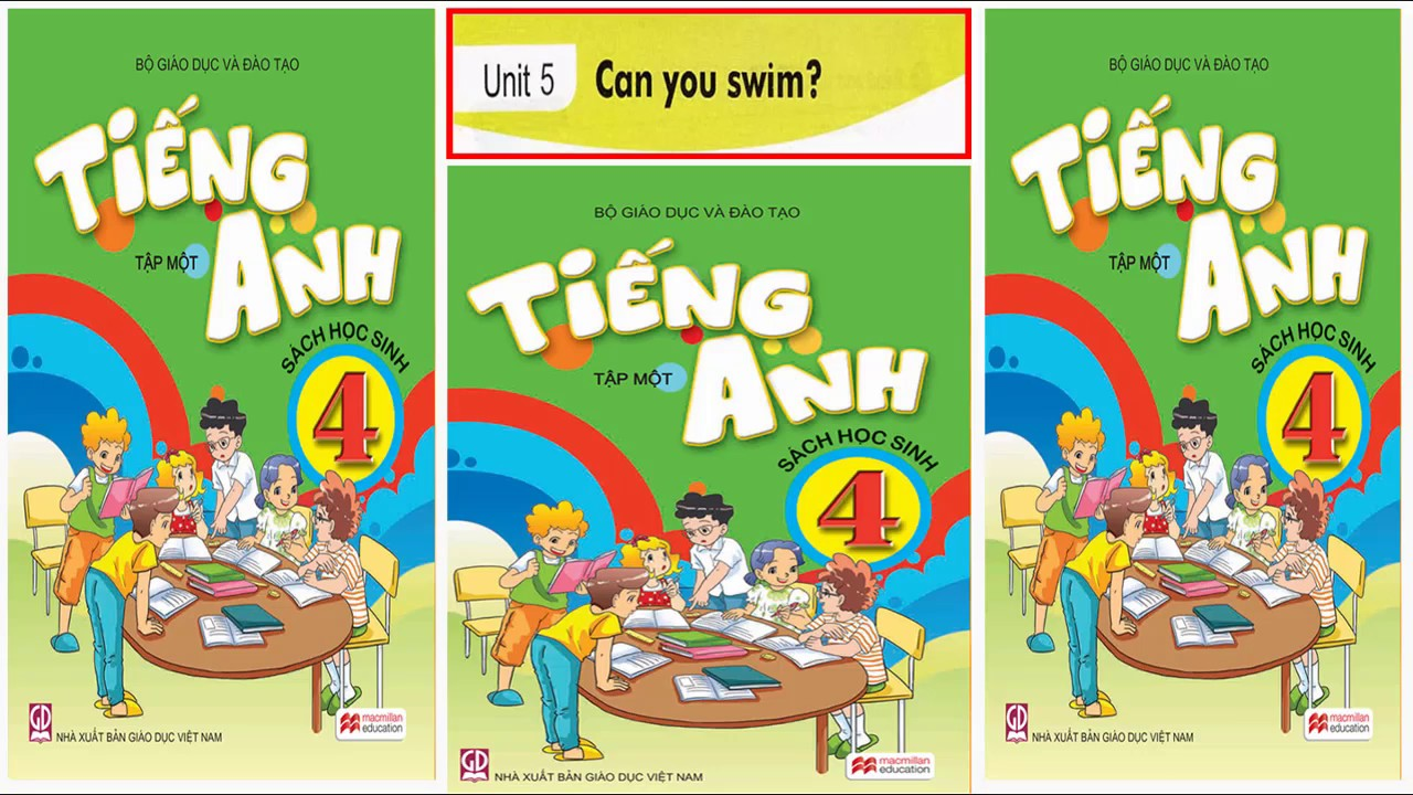 Tiếng Anh lớp 4 Unit 5 Can you swim?