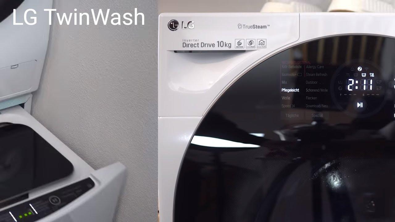 lg twinwash f14wm10gt erfahrungsbericht smarte waschmaschine mit zwei trommeln deutsch. Black Bedroom Furniture Sets. Home Design Ideas
