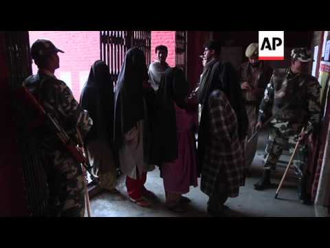 Voting in Indian-administered Kashmir on sixth day of poll