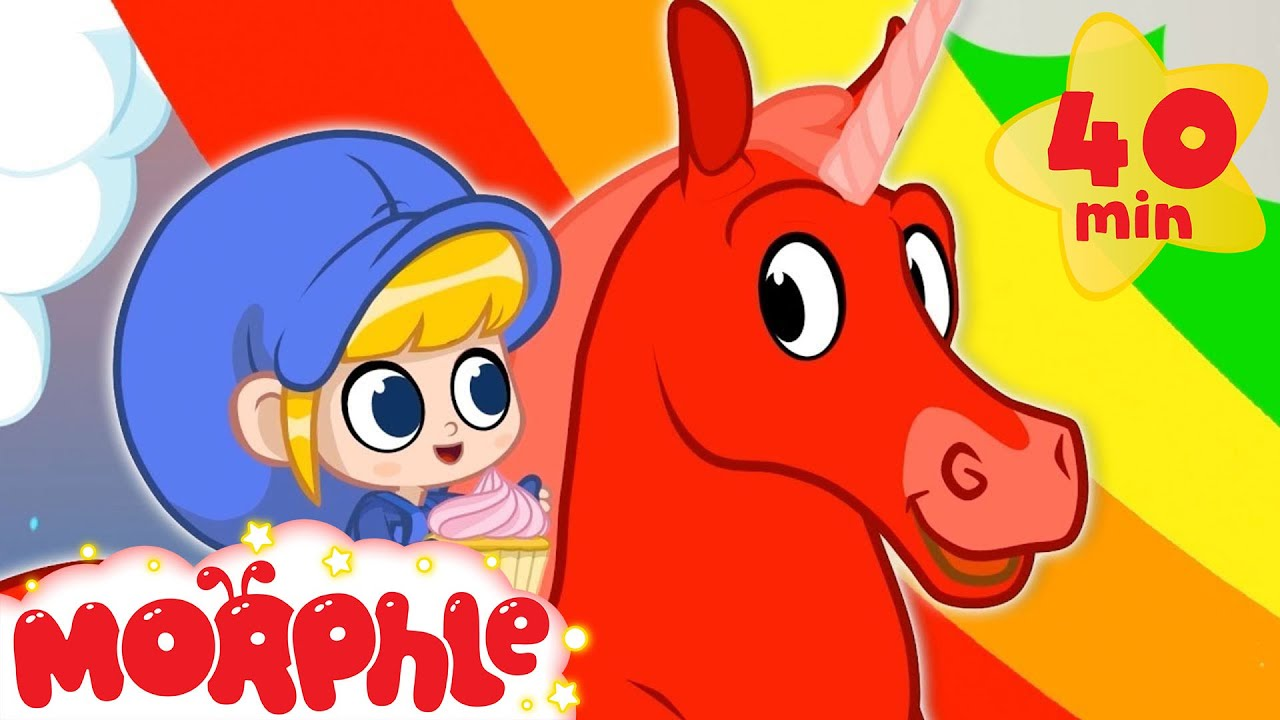 Rainbows and Unicorns - My Magic Pet Morphle   Cartoons For Kids   Morphle TV   Mila and Morphle