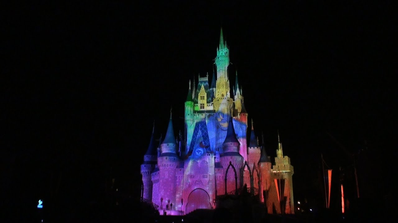 Celebrate The Magic Castle Projection Show At Disney World