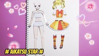 Thiết kế bộ đồ theo phong cách Aikatsu Star 👗 cho Búp Bê giấy Hana - Paper Doll