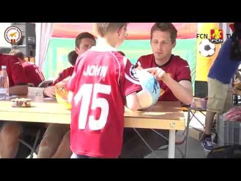 FCN-spillerne besøgte FanZonen i Helsinge