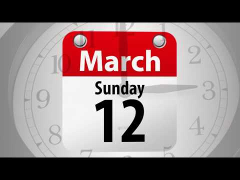 Set your clocks ahead an hour on Sunday, March 12.
