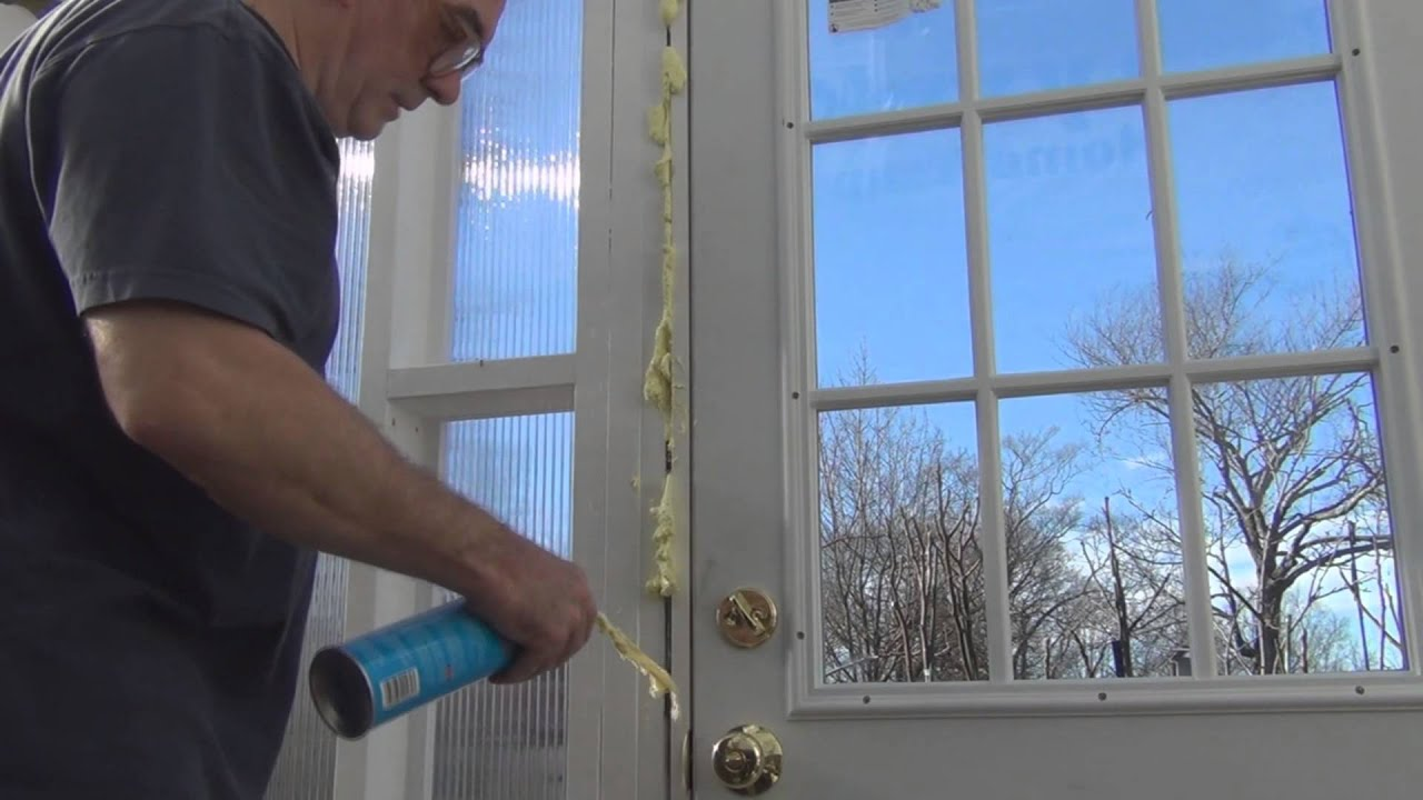 Using Spray Foam Insulation to seal a door frame & Using Spray Foam Insulation to seal a door frame - YouTube