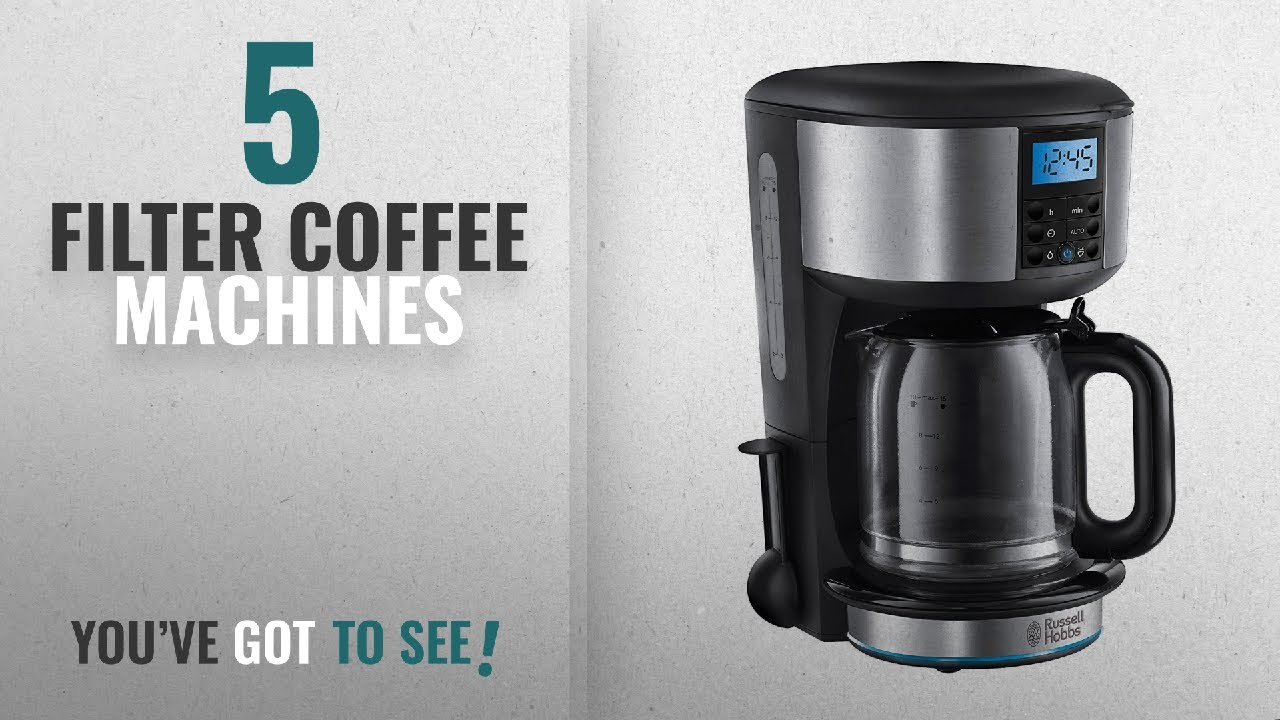 Top 10 Filter Coffee Machines 2018 Russell Hobbs Buckingham 125 L Filter Coffee Machine 20680