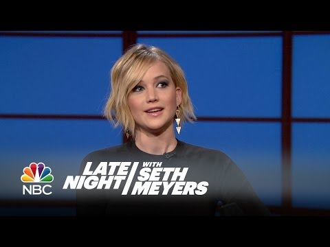 Jennifer Lawrence Threw Up at a Fancy Oscars After Party – Late Night with Seth Meyers