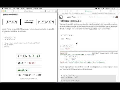 Python Tuples and Tuple Methods - Michael Galarnyk - Medium