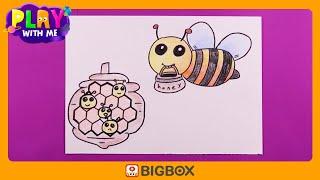 [PLAY WITH ME/미술놀이] 꿀벌 그리기?ㅣ꿀벌…
