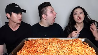 This video of Zach Choi & Stephanie Soo was deleted from the original mukbang....