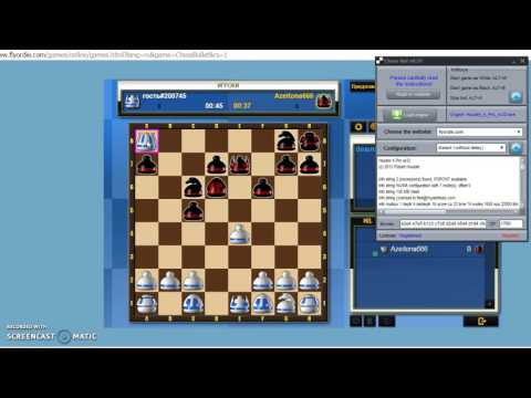 ChessBot playing on FlyOrDie.com
