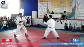 Aayush Goyal | India | Semi Final | Open Kumite | 4th SCKFI National Karate Championship 2014