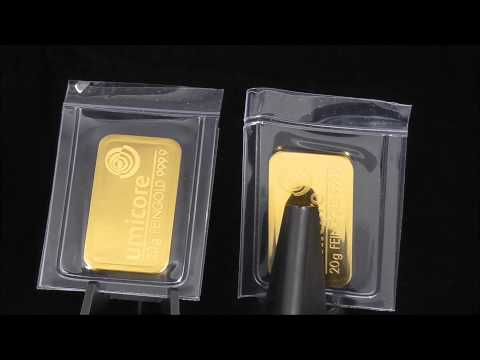 24ct 20g Umicore Gold Bullion Bar