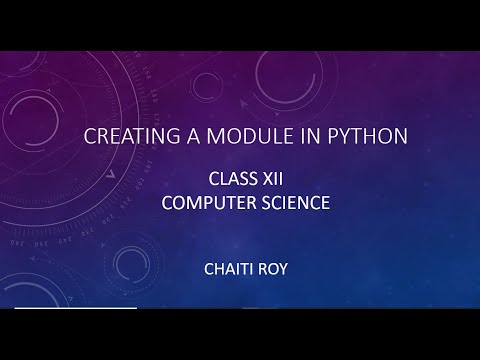 Creating A Module In Python