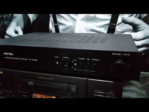 HI-VISION ÁUDIO VINTAGE E RARIDADES AMPLIFICADOR ROTEL RA-840 BX