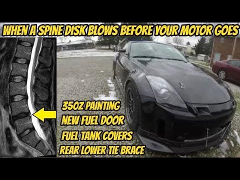 350z How To Paint Rear Lower Tie Brace, Fuel Door, Interior Parts