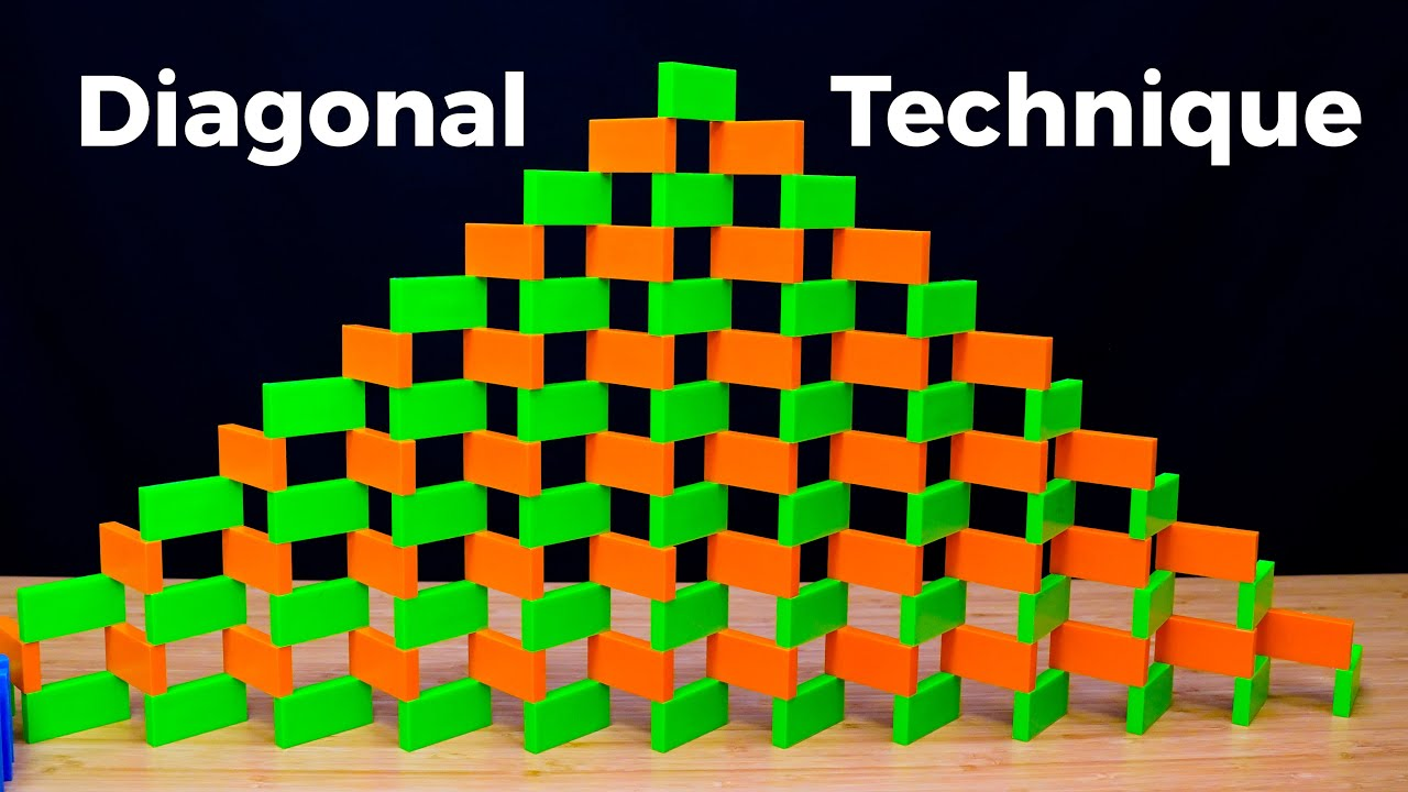 How to Build a Domino Wall (pt. 3: Diagonal Technique)