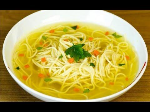 Как сделать лапшу для супа видео 951