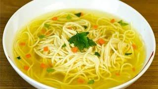 Суп Лапша по Домашнему. Как Приготовить Лапшу.\Noodle Soup for the Home. How to cook the noodles.