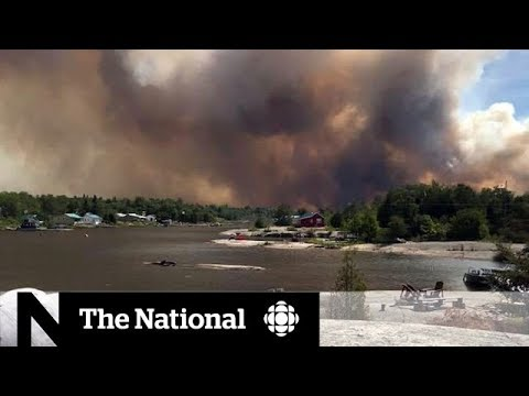 Forest fires burn in northern Ontario