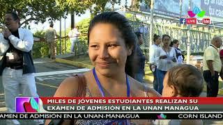 Miles de jóvenes estudiantes realizan su examen de admisión en la UNAN – Managua