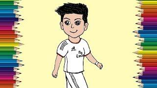 Cristiano Ronaldo drawing | How to draw Chibi Cristiano Ronaldo