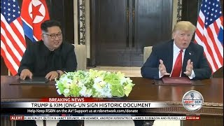 WATCH: President Trump and Kim Jong-un Hold Signing Ceremony