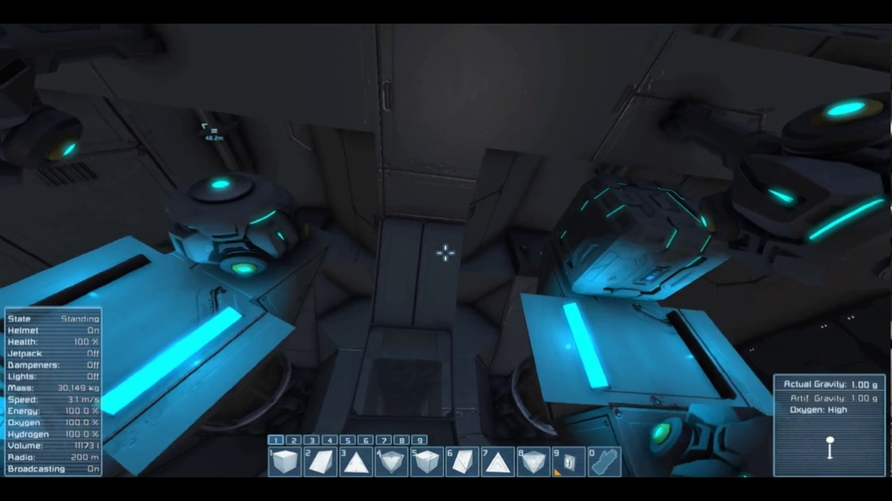 Space Engineers Functional Gravity Drive - YouTube