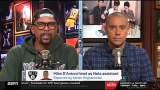 """Jalen Rose """"reacts to"""" Nets hired Mike D'Antoni as coach assistant for Steve Nash"""