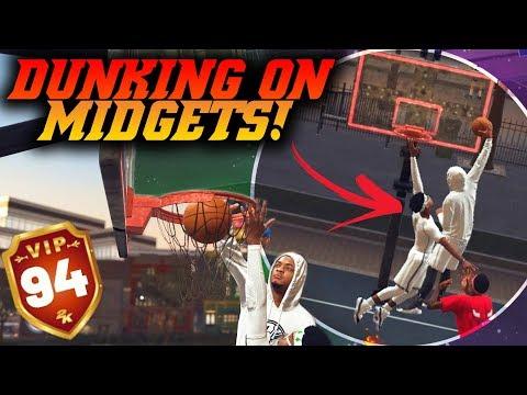 NBA 2K19 Park: Pure Slasher Dunking On Two Midgets! Crazy Lobs! NBA 2K19 Park Gameplay