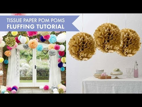 Tissue Paper Pom Poms Fluffing Tutorial | BalsaCircle.com