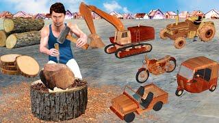 लकड खलन वहन Wood Carving Vehicles Khilona Comedy Video हद कहनय Hindi Kahaniya Comedy