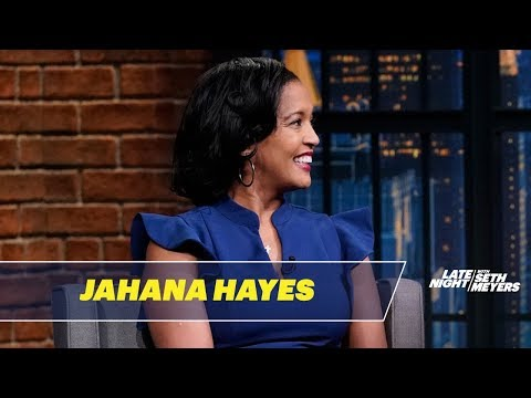 Representative-Elect Jahana Hayes Couldn't Contain Herself When Meeting President Obama
