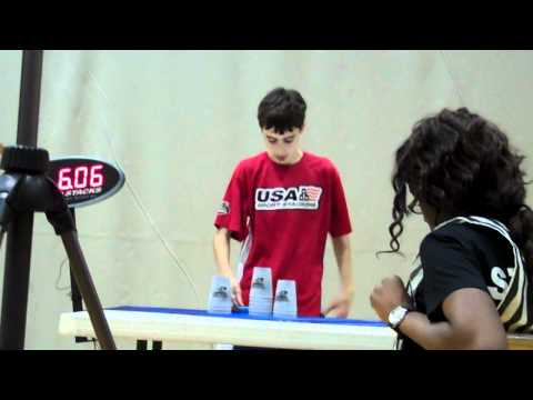 William Orrell Sport Stacking Cycle World Record!!! 5.68!!!