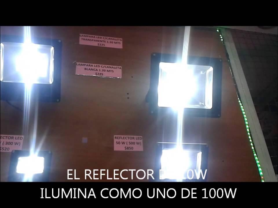 REFLECTORES LED 10w 20w 30w y 50w  YouTube