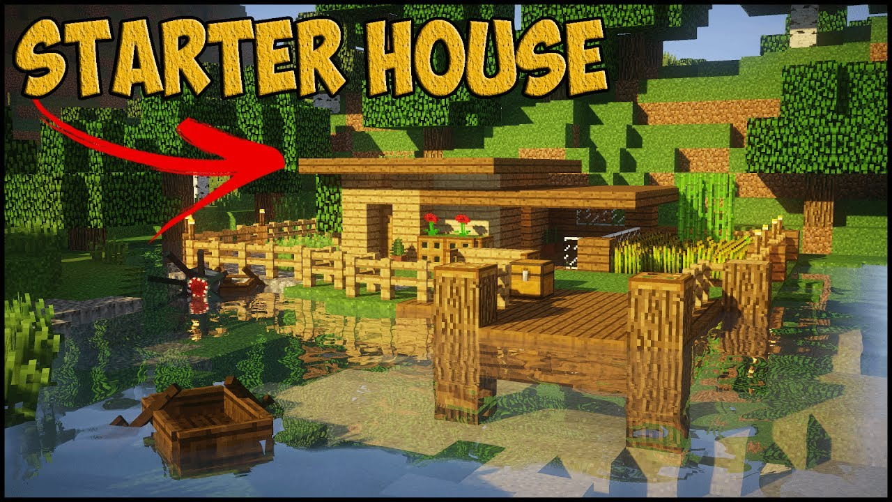 Minecraft starter house tutorial how to build a small for How to build a small home