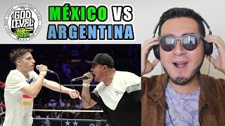 BATALLA ÉPICA - MÉXICO VS ARGENTINA | Video Reacción (God Level Fest México 2019)
