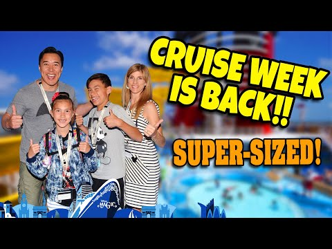 CRUISE WEEK IS BACK!!!  Mediterranean Disney Cruise Movie - SUPER MEGA VLOG!