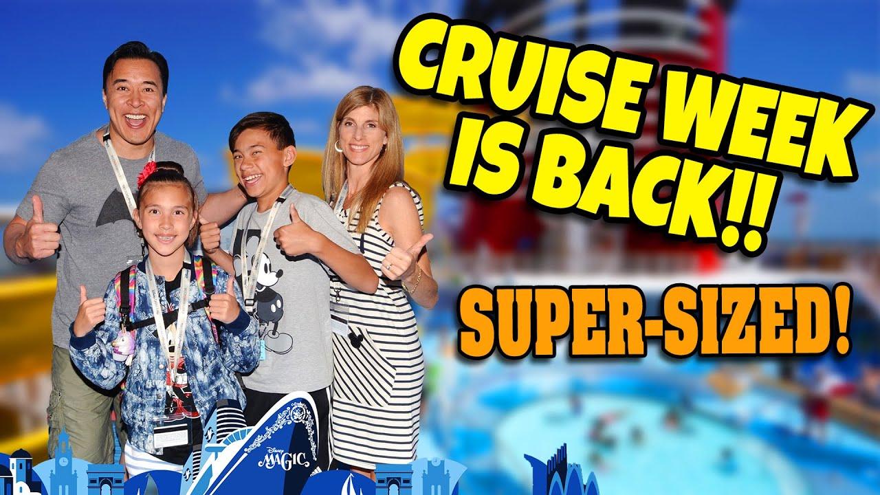 CRUISE WEEK IS BACK!!!  Mediterranean Disney Cruise Movie - SUPER MEGA VLOG!