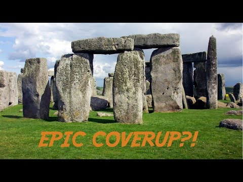 "Cover up? ""UNBELIEVABLE RUINS"" spotted in CRATER 10 min from STONEHENGE! (location not known!)"
