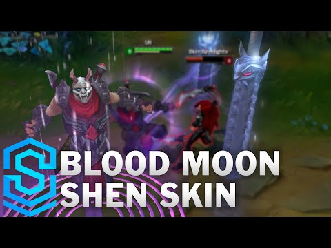 Blood Moon Shen Skin Spotlight (2016 Update) - League of Legends