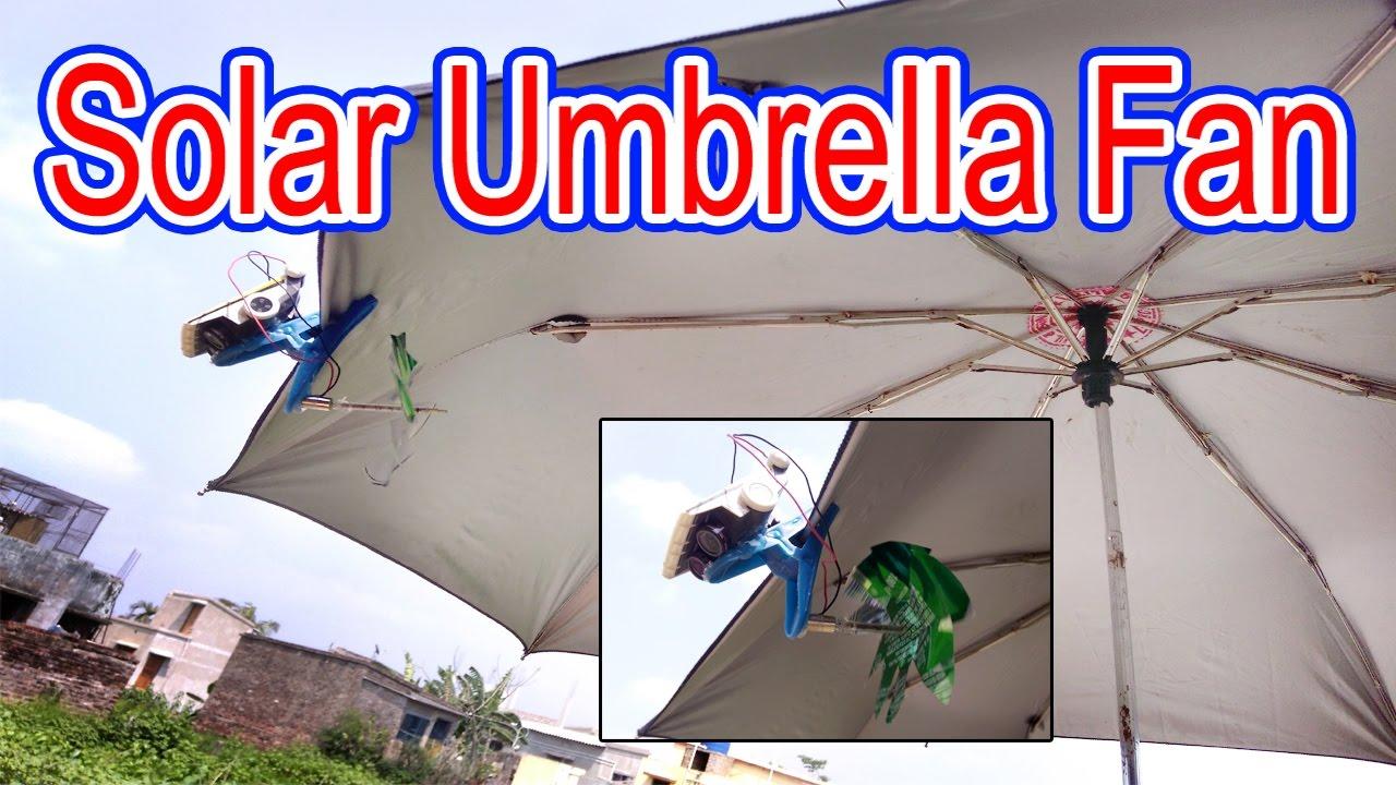 solar umbrella clip fan how to make