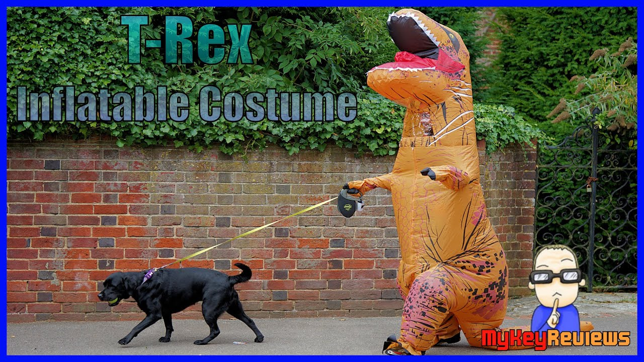inflatable t rex dinosaur costume adult size set up review mykeyreviews youtube