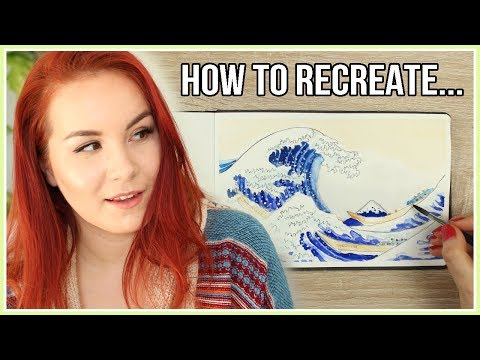 How to Recreate The Great Wave off Kanagawa | Art Journal Thursday Ep. 32