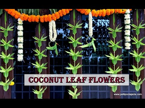 How to make Coconut leaf Toran: Flower type thumbnail
