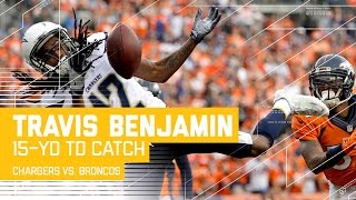 Toomer's Forced Fumble at the Goal Line Sets Up Benjamin's One-Hand TD! | Chargers vs. Broncos | NFL