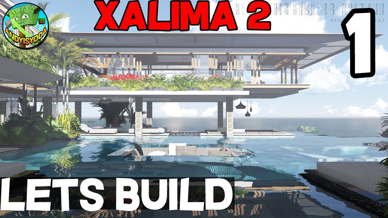 Minecraft Lets Build Xalima 2 01 Modern Concept House YouTube